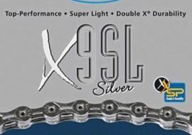 lant 9 viteze kmc x9 sl silver