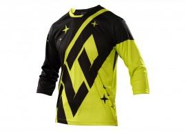 Tricou cu maneca lunga Troy Lee Designs Ruckus Negru-Galben